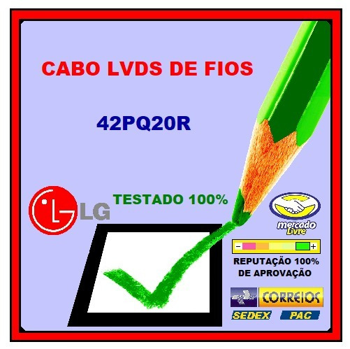 Cabo Flat Lvds De Fios Tv Lg 42pq20r