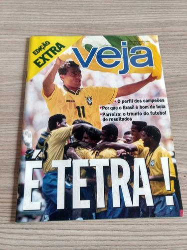 Revista Veja 349 Brasil Tetra Romario Bebeto Parreira Y886