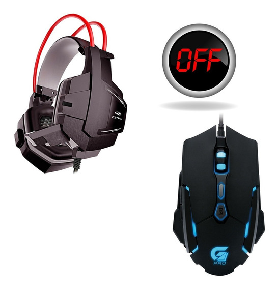 Fone Headset Gamer Com Microfone Sparrow + Mouse M1 4000dpi