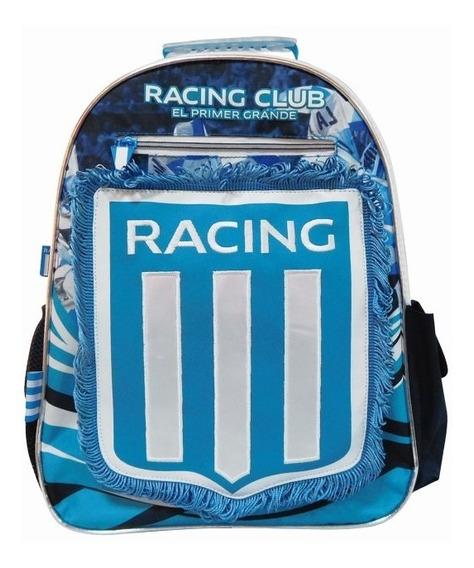 Mochila Racing Club C/banderin 16 Pulgadas Original