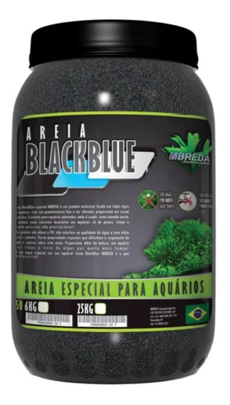 Areia Mbreda Blackblue 6kg Para Aquários