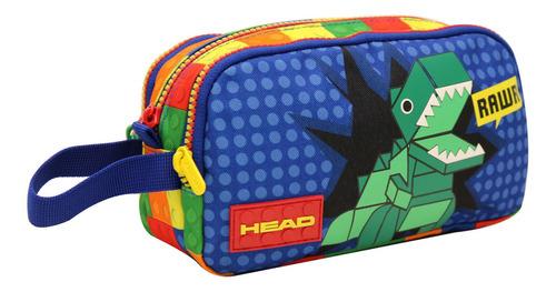 Estuche Square Dino Bloques Multicolor Head
