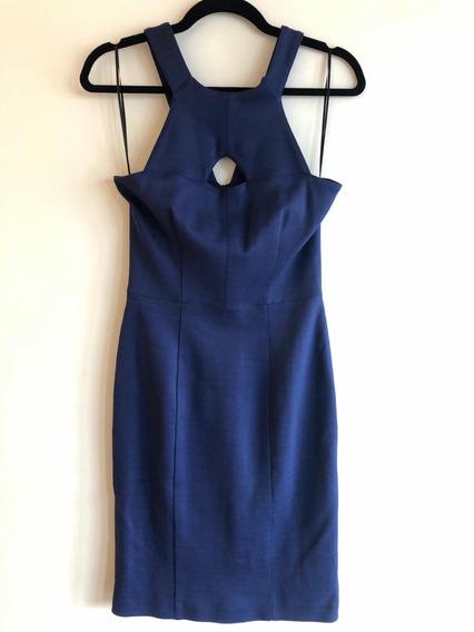 Vestido Mujer Burberry Original Sexy Azul Liso Uk8 Usa6 Ofer