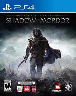 Middle Earth Shadow Of Mordor Ps4 Fisico Nuevo Sellado