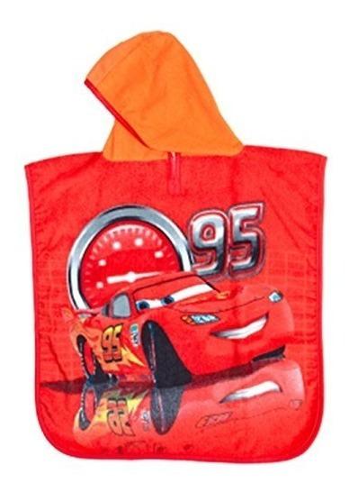 Bata Batita De Baño Infantil Niño Capucha Cars +envio Gratis