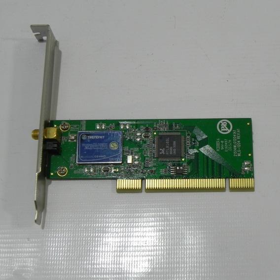 Placa Pci Wireless Wifi 802.11g 54 Mbps Trendnet Tew-423pi