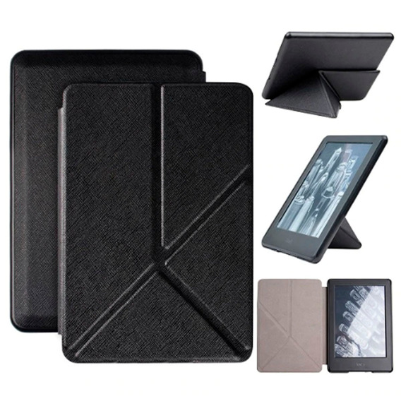 Capa Case Novo Kindle Paperwhite - 10ª G. Origami - Preto.