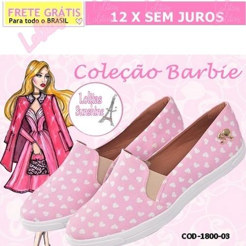 Sapato-sapatilha- Feminino-slipper-coleção Barbie