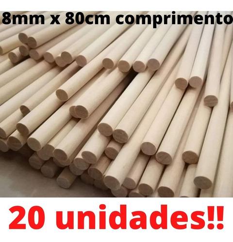 20  Varetas Redonda 80cm X 8mm Flechas, Artesanatos ----