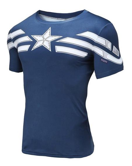 Camisa Compressão Capitão América Pronta Entrega