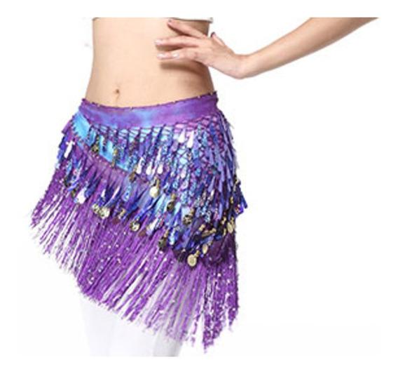 Caderin Danza Arabe Unico Con Flecos Adulto Colores Varios