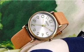 Relógio De Quartzo Unisex Moda Pulseira De Couro