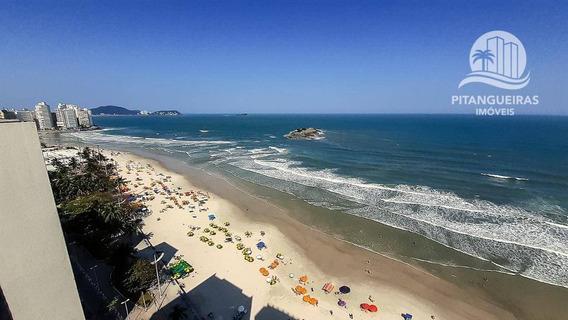 Pitangueiras - Frente Total Para O Mar - Amplo Apartamento - Vista Panorâmica Da Praia. - Ap5065