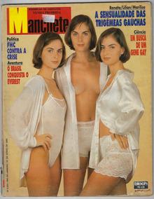 1995 Revista Manchete Nº 2253 Bloch Capa Trigêmeas Gaúchas