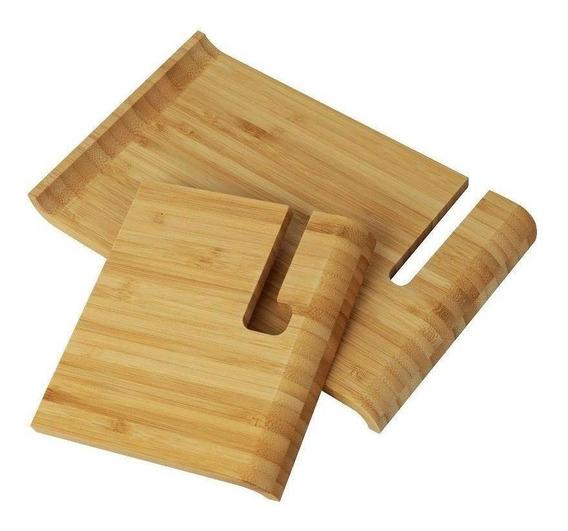 Porta iPad Bambu 17cm - A/casa