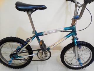 Bicicleta Bmxring16 Color Plateado Y Azul En Muy Buen Estado