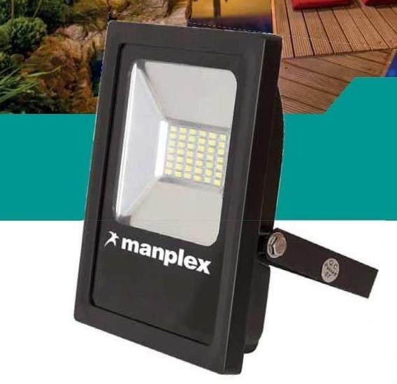 03 Refletor Led Slim 10w - 6500k - 800lm - Verde - Manplex