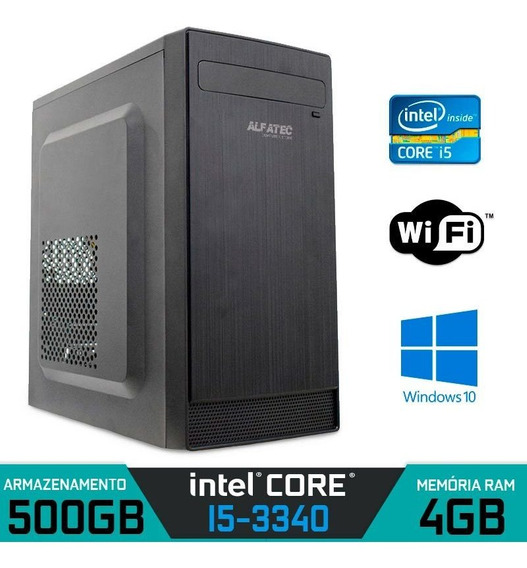 Computador Intel Core I5-3340 Ram 4gb Hd 500gb Wi-fi Win 10