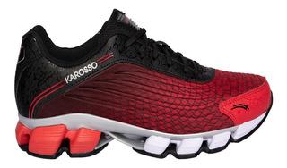 Tenis Para Correr Karosso Rojo 6321