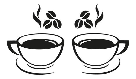 Adesivo De Parede Cozinha Xícaras De Café Cafezinho