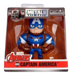 Metals Die Cast Capitan America Figura 6.5cm Marvel Avengers
