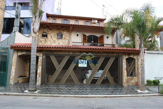 Sobrado Com 3 Dormitórios À Venda, 231 M² Por R$ 775.000 - Vila Mazzei - Santo André/sp - So0576
