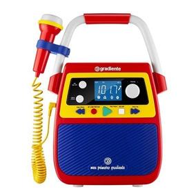 Rádio Portátil Bluetooth C/karaokê Gradiente - Vitrine