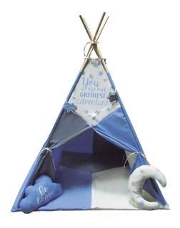 Teepee Azul Con 2 Almohadas Tienda De Acampar Envio Gratis