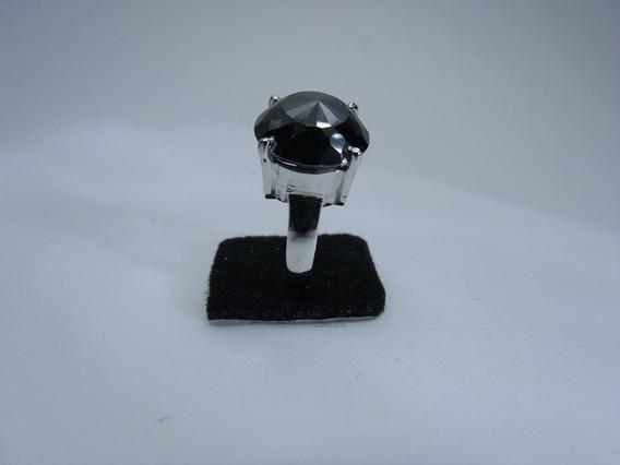 Tw Anel Diamante Negro 32cts Moissanite Prata 925