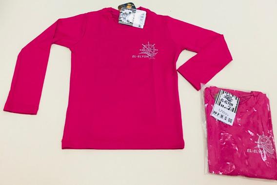 Kit 3 Camisetas Infantil Proteção Uv Solar Segunda Pele