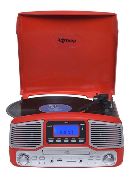Vitrola Raveo Jazz 90-08677 Radio Fm, Vinil, Blueto
