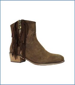 Oferta Nuevos Zapato Botin Mujer Flecos Taco Envio Gratis