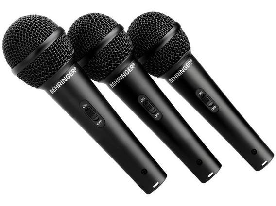 Xm1800s Behringer Kit 3 Microfones Profissional Xm-1800s