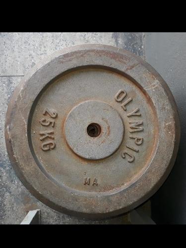 Anilha 25kg Ferro Fundido Academia Musculação