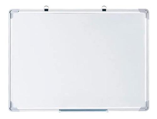 Imagen 1 de 8 de Pizarrón Pizarra Blanca Magnética Marco Metálico 70x100cm
