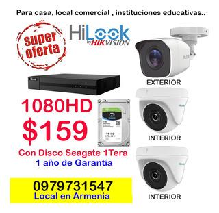 Cámaras De Seguridad 1080 Fulhd Hilook - Incluye Disco Duro