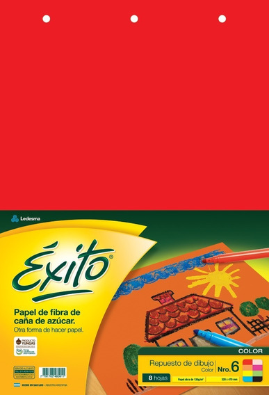 Repuesto Exito 8 Hojas Canson Dibujo Tamaño N6 Color X25 Un.