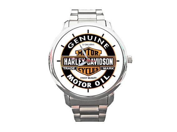 Relógio Hd Motor Oil Jaqueta Moto Motociclismo Custom
