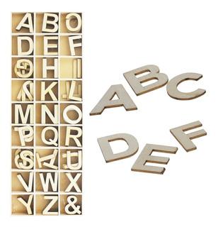 Set De 162 Letras Mayúsculas 3cm En Madera Ref. 62010 Decora