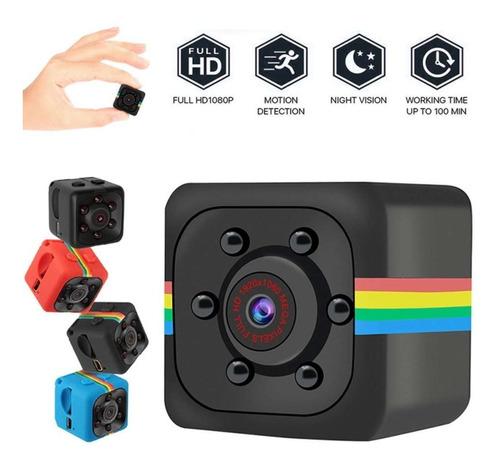 Imagem 1 de 1 de Mini Câmera Filmadora Espiã Noturna Sq11 Full Hd 1080p