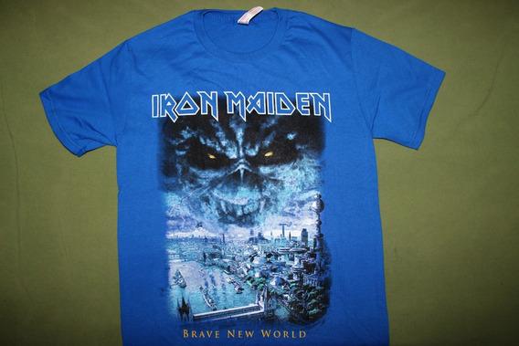 Gusanobass Playera Rock Metal Iron Maiden Brave New World