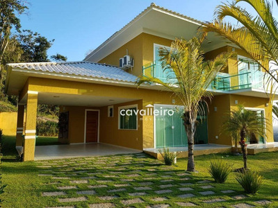 Casa 4 Quartos, Piscina E Churrasqueira No Cond. Pedra Verde, Ubatiba, Maricá - Ca1670. - Ca1670
