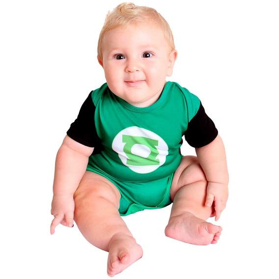 Body Bebe Menino Lanterna Verde Verão 0 A 12 Meses Original
