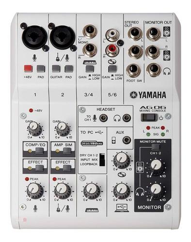 Mesa De Som Interface De Áudio Yamaha Ag06