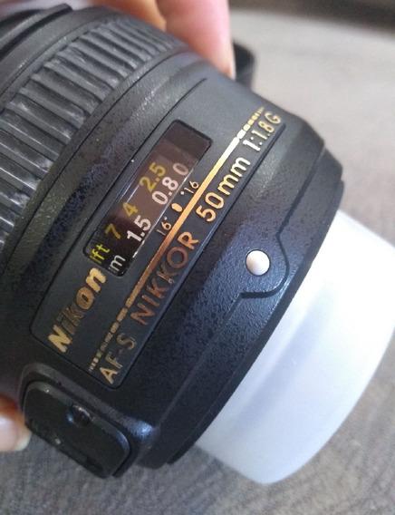 Lente Nikon Usado 50 Mm 1 8g