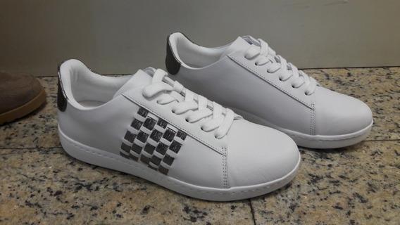 Tenis Em Couro Usaflex Branco 0821 - Casas Ling Conforto