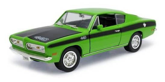1969 Plymouth Barracuda Verde - Escala 1:18 - Yat Ming