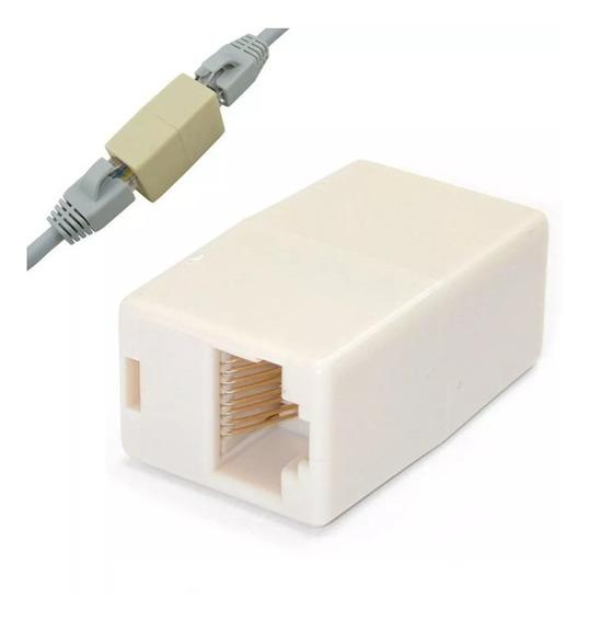 Adaptador Union Empalme Rj45 Cable De Internet Pack 6 Piezas