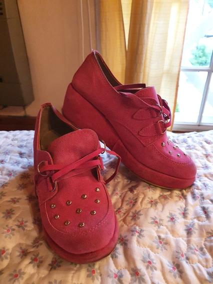 Zapatos De Vestir Fucsia/rosa Chicle