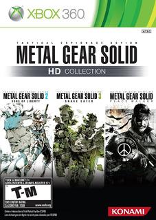 Metal Gear Solid Hd Collection Xbox 360 Nuevo Y Sellado